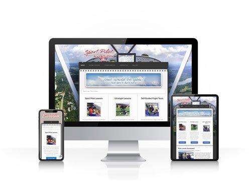 Toledo Web Design Company - Sport Pilot Aviation - responsive design toledo