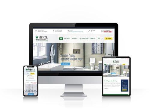 Toledo Web Design Company - Fisher Home Service - responsive design toledo