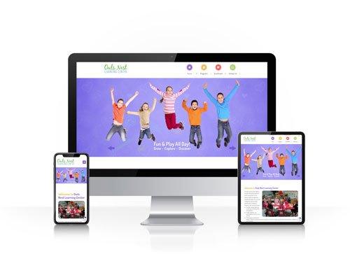 Toledo Web Design Company - Owls Nest Learning Center - responsive design toledo