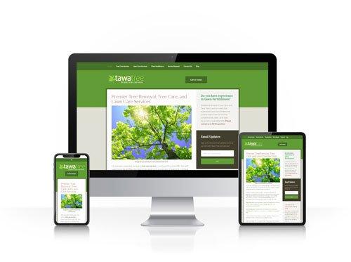 Toledo Web Design Company - Tawa lawn and landscape - responsive design toledo