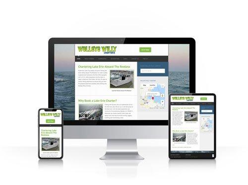 Toledo Web Design Company - Walleye Willy - responsive design toledo