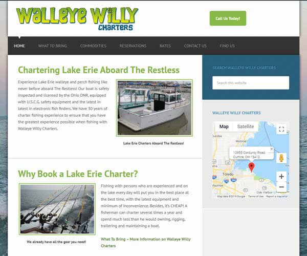 Fishing Website Design